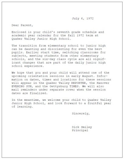 Dick Smiley letter