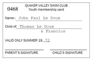 John Paul's card